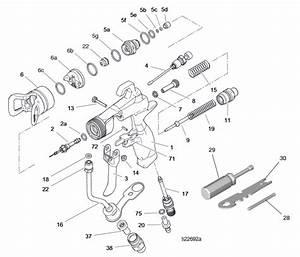 Graco G40 Spray Gun  262932   U2013 Technical Drawing  U0026 Spare