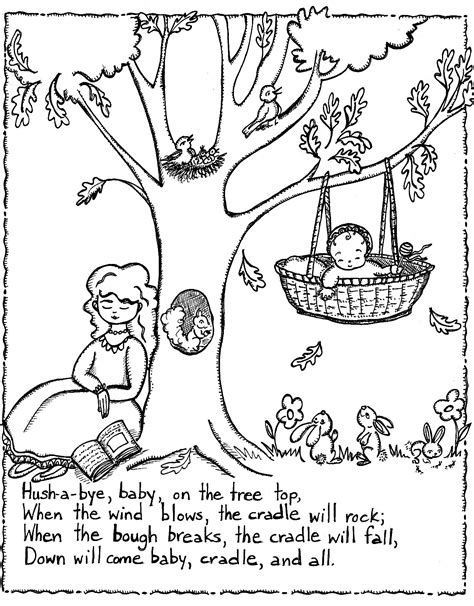 free printable nursery rhymes coloring pages for