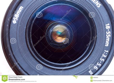 camera lens front view royalty  stock photo image