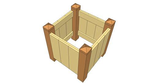 woodwork wood planter plans  plans
