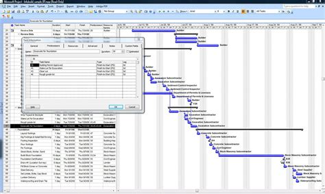 microsoft project templates a sle microsoft project construction schedule b4ubuild