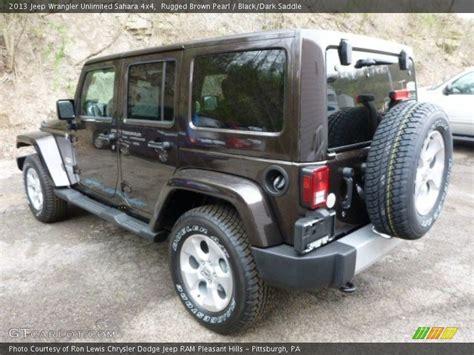 dark brown jeep 2013 jeep wrangler unlimited sahara 4x4 in rugged brown