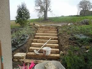 jardin en pente que faire 3 la fin de lescalier de la With jardin en pente que faire