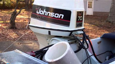 1960 Evinrude Boat- 70hp Johnson Outboard Starting