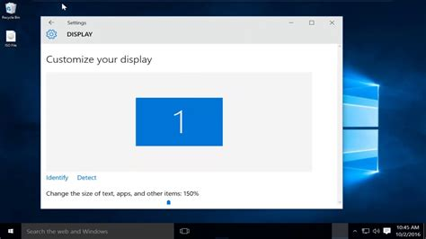 how to change display dpi scaling in windows 10