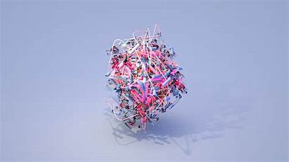 Pink Abstract 3d Objects Wallpapers Encrusted 4k