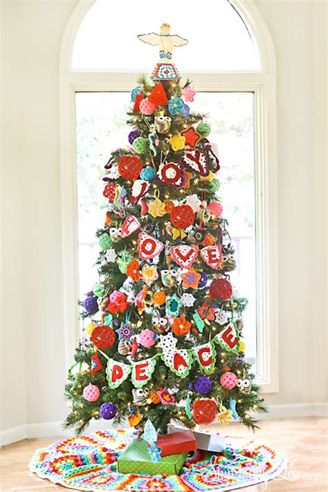 photo of decorated christmas tree crochet decorated tree tree challenge skip to my lou