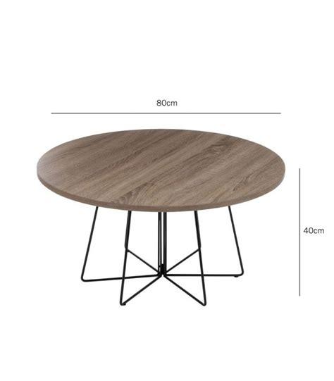 table basse design ronde en bois et m 233 tal diam 80cm