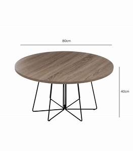 round design coffee table wood and black metal With black metal and wood coffee table