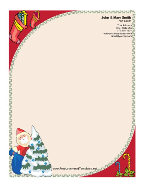 santa claus  christmas tree letterhead
