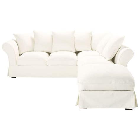 canape d angle 6 places canapé d 39 angle 6 places en coton ivoire roma maisons du