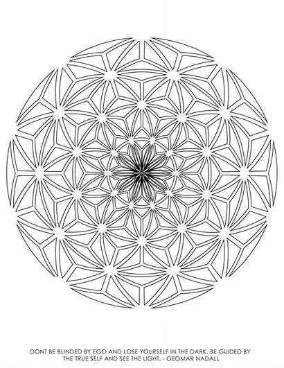 Geometry Sacred Coloring Pages Printable Getcolorings Colo