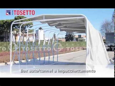 box tunnel auto box auto tunnel a impacchettamento teloni tosetto