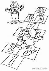 Coloring Berenstain Pages Bears Hopscotch Bear Colouring Sheets Count Learn Playing Printable Play Sister Brother Children Toddler Did Activities Books sketch template