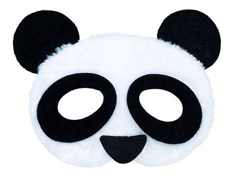 panda mask half face plush partynutters uk