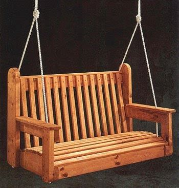 porch swing  woodworking project plans