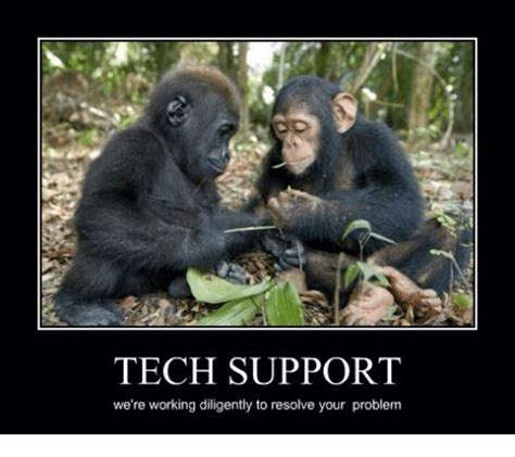 It Memes - tech support we re working diligently to resolve your problem meme on me me