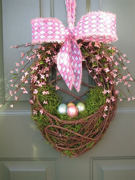 easter door wreaths easter egg door basket easter egg wreath by