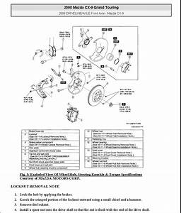 2007 2008 2009 Mazda Cx 9 Cx9 Wiring Wire Electrical Diagram