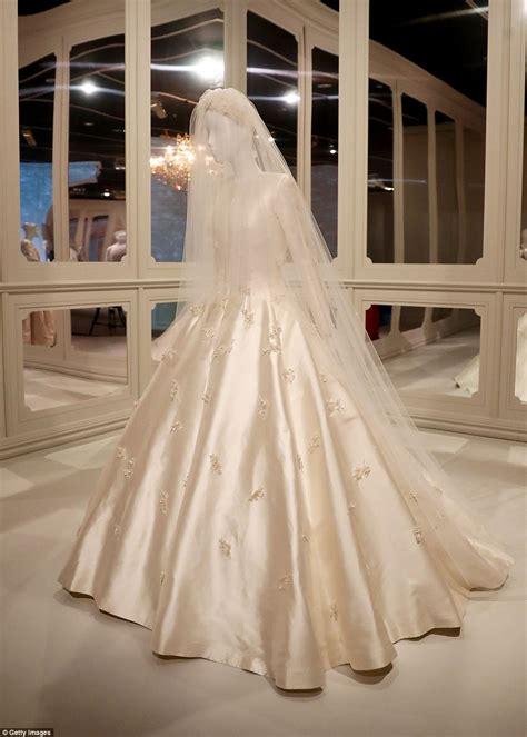 miranda kerrs wedding gown  display  dior exhibition
