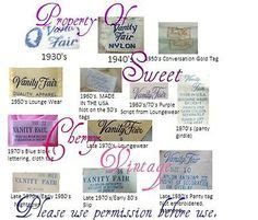 vanity fair brands guide to vintage chion labels and tags ebay seller