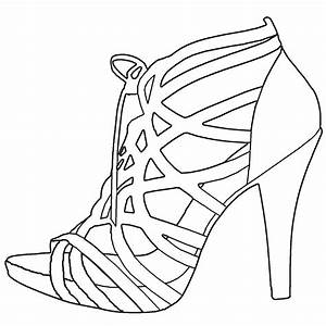 high heel shoe design template - high heel drawing template at free for