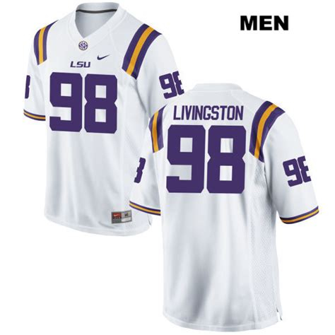 Dominic Livingston LSU Tigers Authentic Stitched Nike Mens ...
