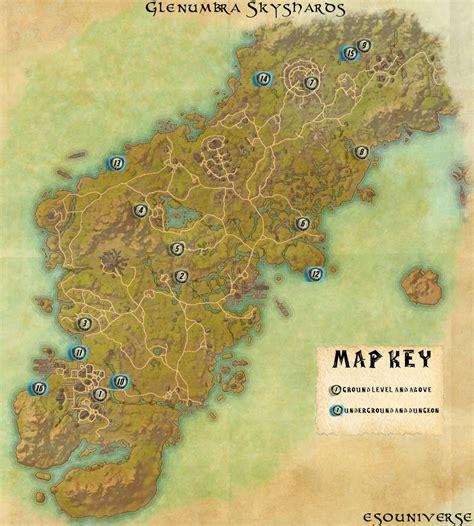 elder scrolls  glenumbra skyshard location guide