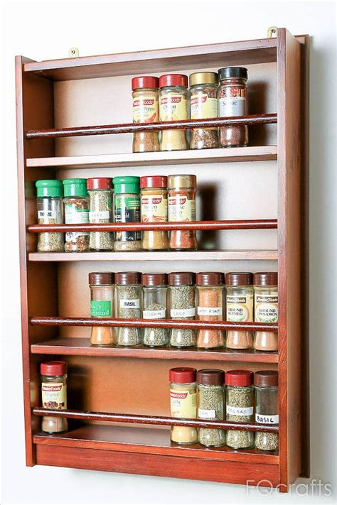 wooden spice rack ideas  pinterest wooden