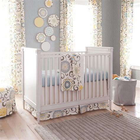 spa pom pon play crib bedding gender neutral baby