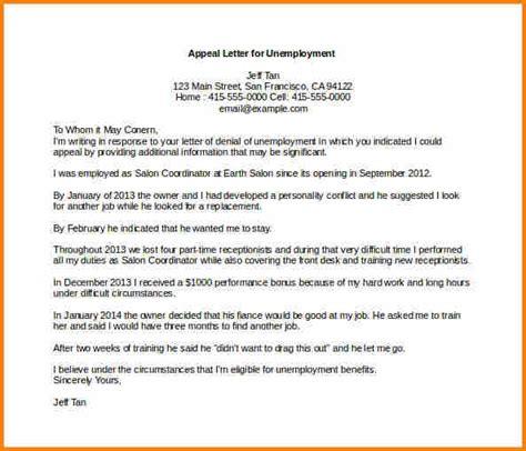 appeal letter format template appeal letter