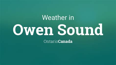weather  owen sound ontario canada