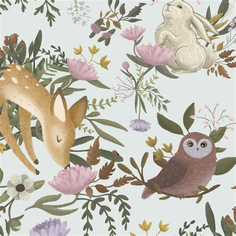 Animal Removable Wallpaper - anewall oh deer modern classic animals light removable