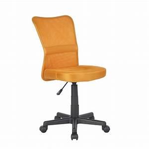 SixBros Chaise De Bureau Pivotant Orange H 298F2067 EBay