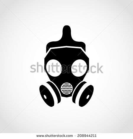 gas mask icon isolated  white background stock vector