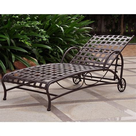 iron chaise lounge in matte brown 3571 sgl bn