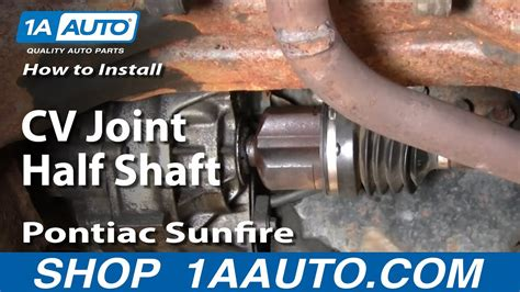 replace cv axle shaft   pontiac sunfire youtube