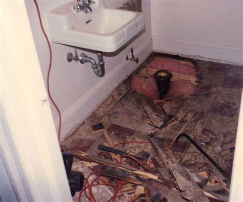 Repair Bathroom Floor by Rotted Bathroom Floor Kattermann S Handyman