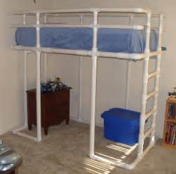 pvc design loft bed made from pvc water pipe