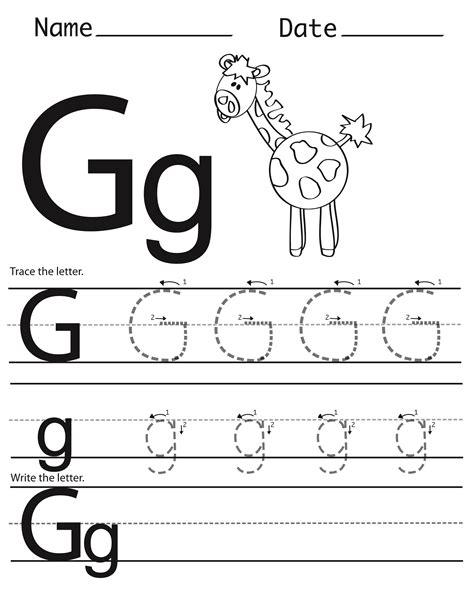 g worksheets for preschool trace letter g for better handwriting kiddo shelter 713