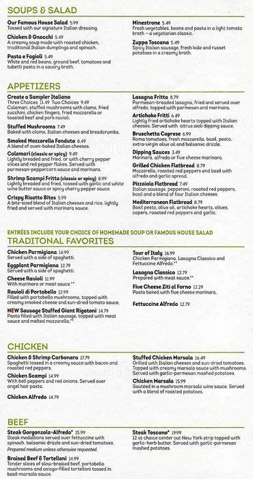 olive garden menu olive garden menu