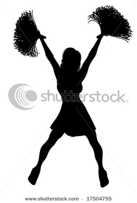 Cheerleading pom poms cheer poms clip art Silhouettes t