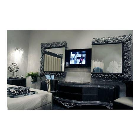 canapé cuir ancien meuble tv bas de luxe 2 portes venize et miroir tv intégrée