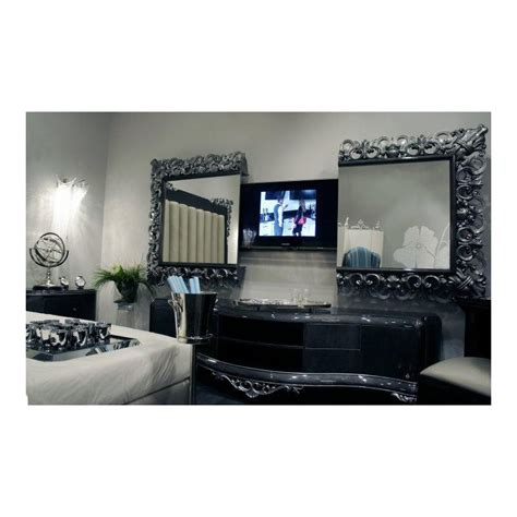canape cuir de luxe meuble tv bas de luxe 2 portes venize et miroir tv intégrée