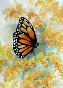 Watercolor Drawings Of Butterflies | Monarch Butterfly on ...