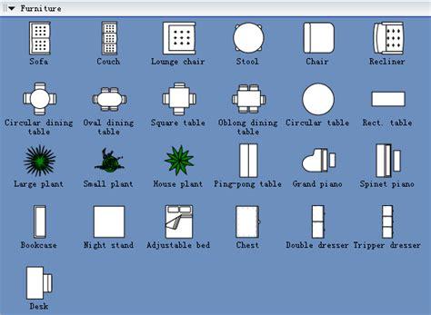 furniture symbols  drawing building plan