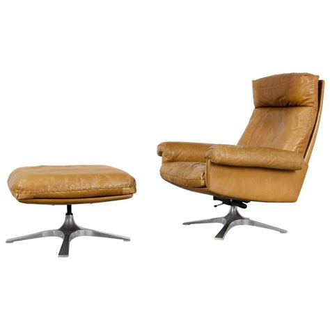swivel lounge chair and ottoman de sede ds 31 highback swivel lounge chair and ottoman for