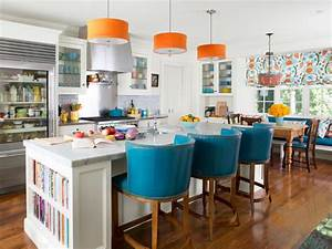 Our 55 favorite white kitchens hgtv for Kitchen colors with white cabinets with framed wall art set of 3
