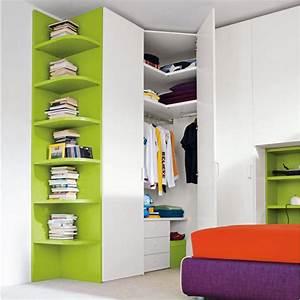 Armoire D Angle : armoire d 39 angle pour petite chambre ~ Teatrodelosmanantiales.com Idées de Décoration