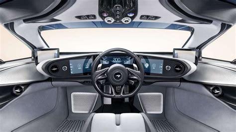 mclaren speedtail cockpit les voitures